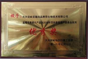 蓝莓花青素片2018百姓最喜爱产品食品系列优秀奖.jpg